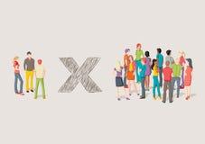 Соперничество против групп людей бесплатная иллюстрация