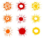 соплеменное иконы установленное солнечное Иллюстрация вектора