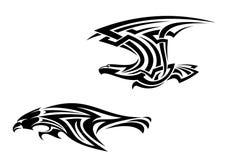 Соплеменные tattoos и талисманы птиц Стоковая Фотография