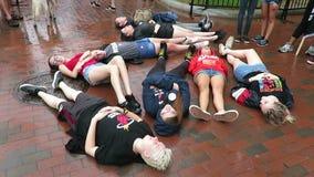 Сопротивляйтесь движению на парке Лафайета в DC Вашингтона акции видеоматериалы