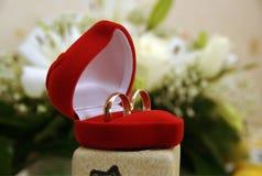 сопрягая кольца wedding Стоковое Изображение