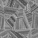 соплеменное картины безшовное Геометрическая нарисованная рука орнамента Стоковая Фотография RF