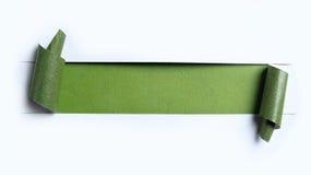 Сорванная белая бумага Стоковое Изображение RF