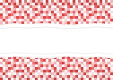 Сорванная бумага в цветах зимы красного и белого иллюстрация штока