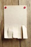 Сорванная бумага для объявлений Стоковая Фотография RF