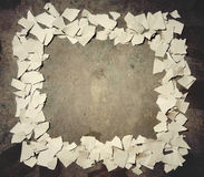 сорванная бумага рамки стоковая фотография rf