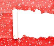 сорванная бумага рождества декоративная Стоковое фото RF