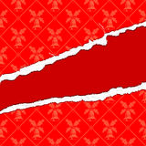 сорванная бумага рождества Стоковые Изображения RF