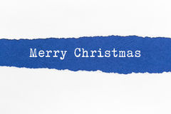 Сорванная бумага - рождество Стоковая Фотография