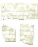 сорванная бумага собрания пакостная looseleaf Стоковое Изображение RF