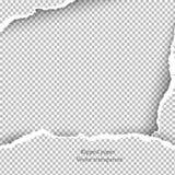 Сорванная бумажная и прозрачная предпосылка с космосом для текста, Стоковое Изображение RF