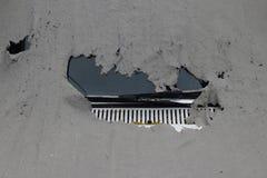 Сорванная защитная предпосылка крышки автомобиля стоковое фото rf