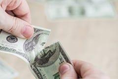 Сорванная концепция доллара Стоковое фото RF