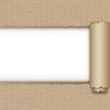 Сорванная коричневая бумажная коробка Стоковые Изображения