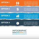 Сорванная предпосылка Infographic бумаги Стоковые Фотографии RF