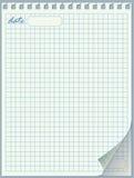 сорванная спираль страницы блокнота держателя листьев края Стоковое Изображение