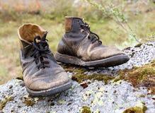 сорванная старая ботинок кожаная Стоковое фото RF
