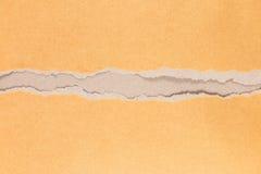 сорванная текстура коричневой бумаги для картины и дизайна Стоковое Изображение RF