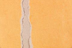 сорванная текстура коричневой бумаги для картины и дизайна Стоковые Изображения