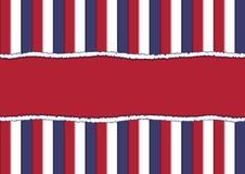 Сорванное бумажное в официальных цветах США иллюстрация вектора