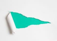 Сорванное бумажное отверстие для вашей предпосылки текста Стоковое Фото