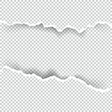 Сорванное бумажное прозрачное с космосом для текста, искусства вектора и иллюстрации Стоковая Фотография RF