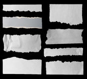 сорванные бумаги Стоковые Фотографии RF