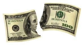 Сорванные деньги Стоковое Изображение RF