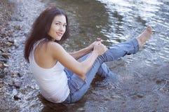 сорванные джинсыы Стоковая Фотография RF