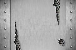 сорванные заклепки металла панцыря Стоковое Изображение