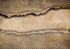 сорванные нашивки grunge картона предпосылки Стоковое Изображение RF