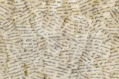 сорванные письма стоковое изображение rf