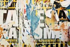 сорванные плакаты рекламы Стоковая Фотография RF