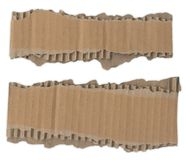 сорванные прокладки картона Стоковое фото RF