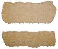 Сорванные прокладки обжатые картоном бумажные Стоковая Фотография RF