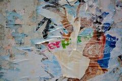 сорванные плакаты Стоковое Фото