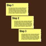 сорванные шаги прогресса бумаги варианта предпосылки Стоковые Изображения RF