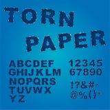 Сорванный бумажный шрифт Стоковые Изображения