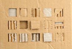 сорванный картон Стоковая Фотография