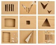 сорванный картон Стоковые Изображения