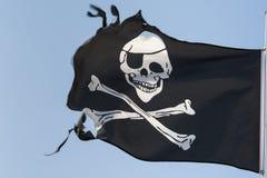 Сорванный флаг пирата Стоковые Изображения RF