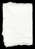 Сорванный чистый лист бумаги с космосом экземпляра Стоковые Изображения RF