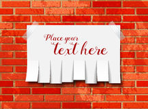 Сорвите бумажное извещение на стене бесплатная иллюстрация