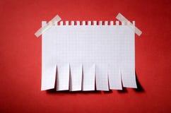 Сорвите бумажное извещение стоковое изображение rf