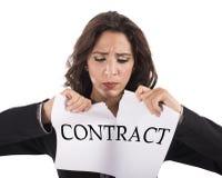 Сорвите контракт стоковое фото rf