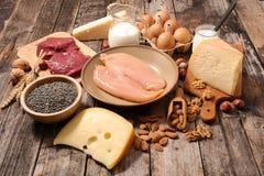 Сортированная еда протеина стоковые фотографии rf