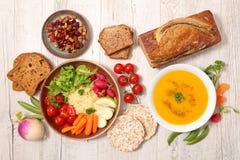 Сортированная еда vegan стоковые фотографии rf