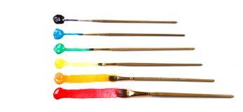 сортированная краска щеток Стоковые Изображения