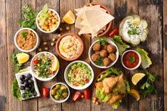 Сортированная ливанская еда стоковые фото
