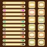 сортированная сеть золота покрашенных элементов кнопок Стоковые Изображения RF